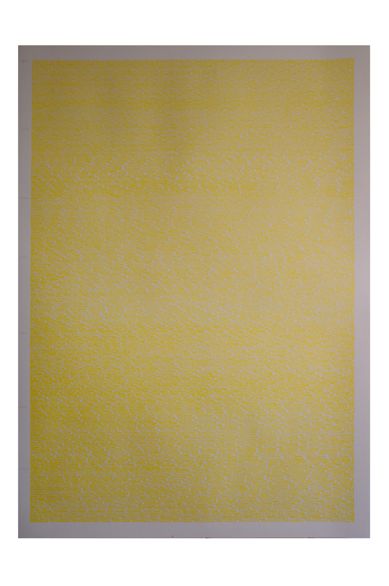 01. 3097 Yellows. 100x70. 2016