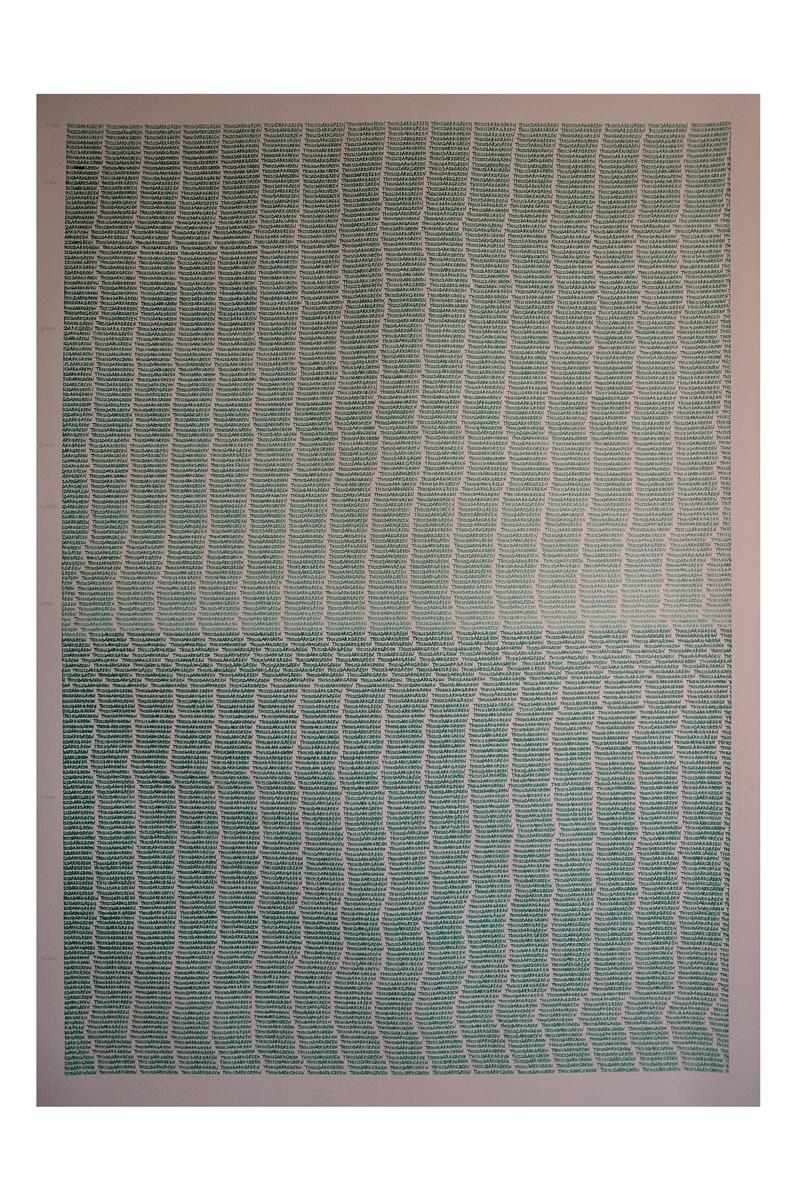 08. 3008 Dark Greens. 100x70. 2016